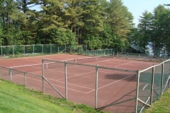 Campus tennis courts in the sun